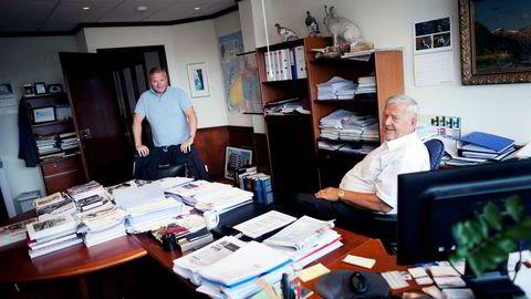 Investor Trygve Jacobsen har slått seg sammen med en rekke andre investorer for å finne ut hva som har skjedd i Alfred Ydstebøs amerikanske meglerhus. Her Trygve Jacobsen og sønnen Trond som han driver familieselskapet Westco sammen med.