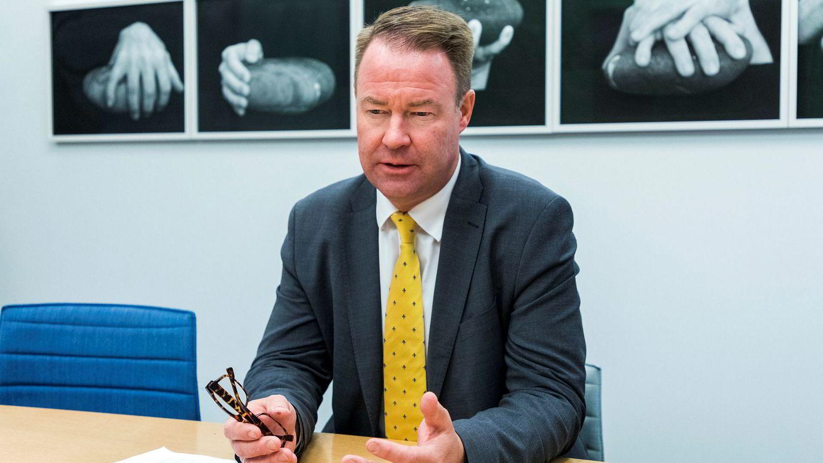 Trond Mellingsæter, sjef for Danske Banks virksomhet i Norge, barberer tapsavsetningene etter bedring blant olje- og oljeservice-kundene.