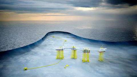 Skisse over hvordan Statoil ser for seg en utbygging av Utsirahøyden.