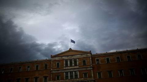 Parlamentet i Aten søndag. Foto: AFP / NTB SCANPIX