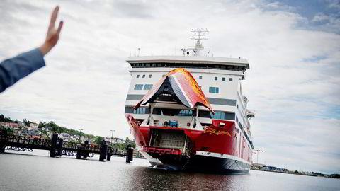Bil- og passasjerskipet «Oslofjord» hadde første avgang i ruten fra Sandefjord 20. juni ifjor. Foto: Fartein Rudjord