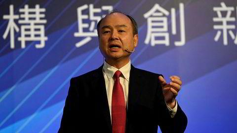 Softbanks grunnlegger Masayoshi Son har fått med seg noen av verdens største selskaper fra teknologi- og finanssektoren til å investere i et nytt teknologifond. Her fra en teknologikonferanse tidligere i sommer.