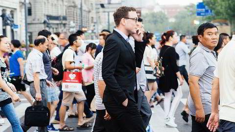 STARTET SELSKAP. Dan Bjørke dro på utveksling til Shanghai gjennom BI, og ble der. Foto: Privat