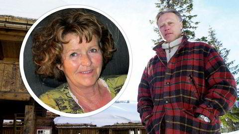Politiet antar at Anne-Elisabeth Falkevik Hagen (innfelt), konen til eiendomsinvestor Tom Hagen (her på et bilde tatt i 2001), er blitt kidnappet.