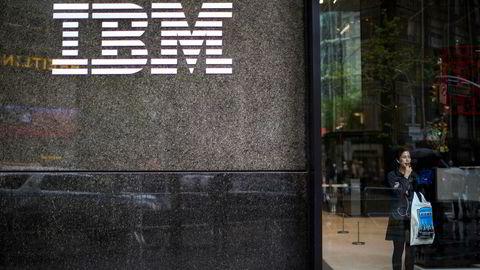 Teknologikjempen IBM gjør det sterkt. Foto: Mary Altaffer/AP Photo
