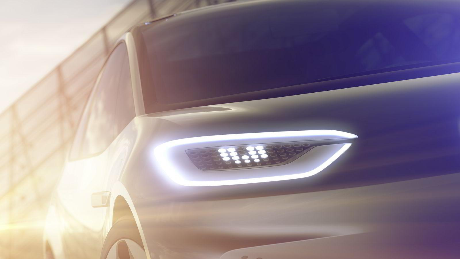 Den nye elbilen fra Volkswagen blir omtrent på størrelse med Golf. Alle illustrasjoner: Volkswagen