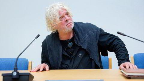 Odd Nerdrum avbildet i Larvik tingrett 2. september 2014, i forbindelse med rettsaken mellom kunstneren og The Nerdrum Institute. Foto: Håkon Mosvold Larsen / NTB scanpix