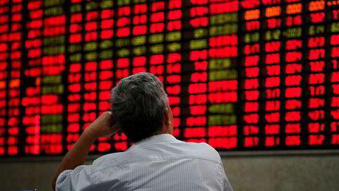 Investorer er nervøse og venter for å se om USA avfyrer neste skudd i handelskrigen med Kina på fredag. Japan kan bli neste land som får føle Trumps vrede. Nikkei-indeksen ved Tokyo-børsen har falt.