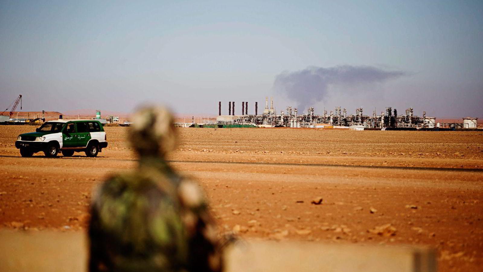 TILBAKE. Rundt ti Statoil-ansatte er tilbake på gassfeltet In Amenas i Algerie etter terrorangrepet ifjor. Foto: Tore Meek,