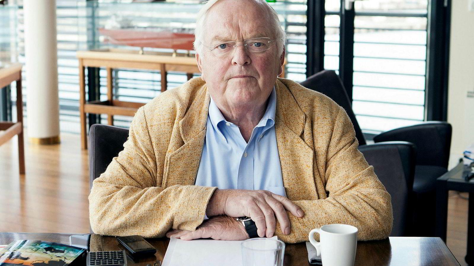 Herbjørn Hansson på Nordic American Tankers kontor i Sandefjord.