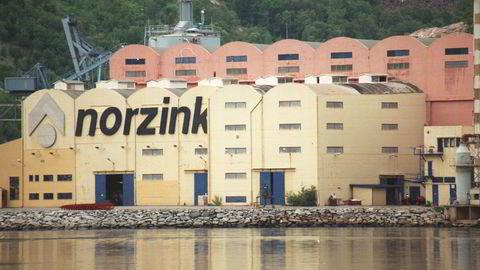 Bolidens zinkverk i Odda, Hordaland.