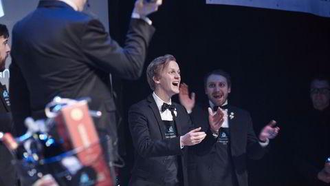 Henrik Dahl Jansen, her når han vant NM for vinkelnere i februar i år. Foto: Torjus Berglid