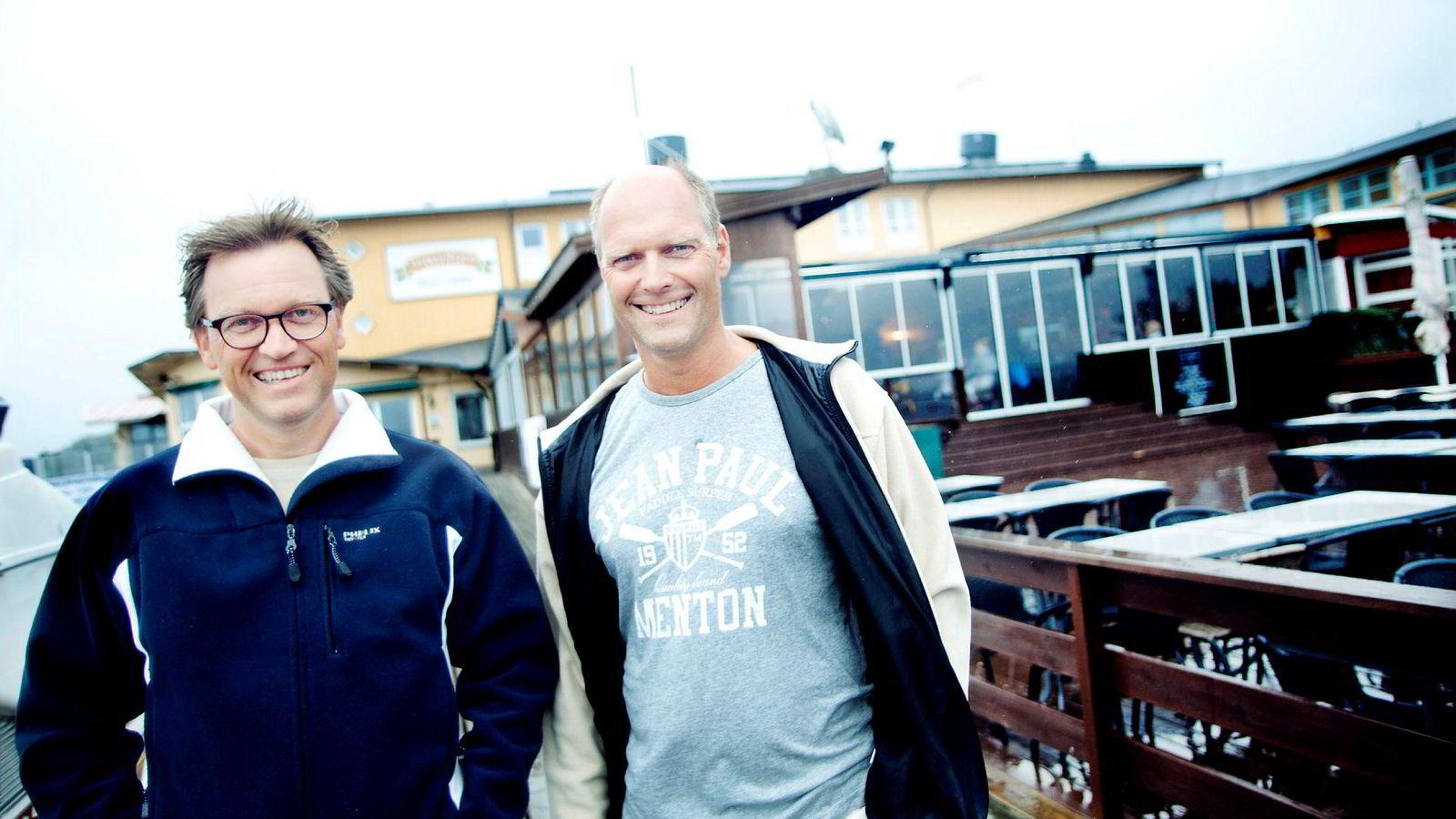 Fra venstre: Kristian og Roger Adolfsen drar inn 2,75 milliarder kroner på salg av en stor barnehageeiendomsportefølje.