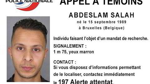 Salah Abdeslam er den eneste av de antatte gjerningsmennene som fortsatt er på frifot. Foto: Reuters / NTB scanpix