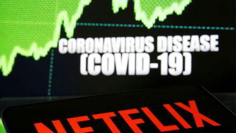 Koronaviruset har ført til et enormt oppsving for strømmetjenesten Netflix.