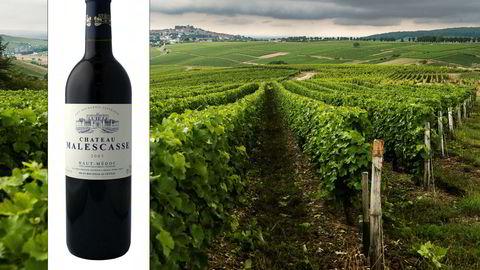 Ch. Malecasse 2003 fra Bordeaux er perfekt moden akkurat nå.