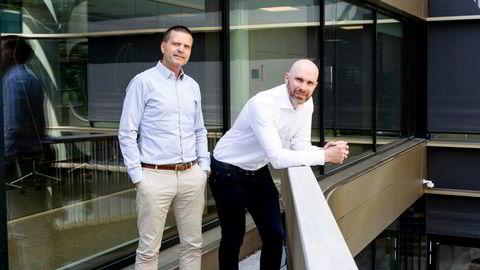 Fra venstre: Administrerende direktør Terje Wibe og finansdirektør Fredrik Eeg i Mercell.