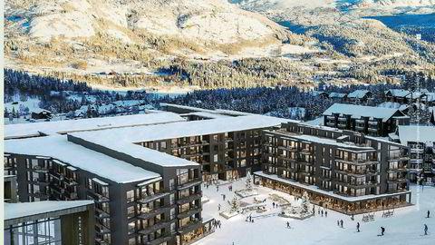 Asle Torset Skogstad og Solon Eiendom lanserer nå et kjempeprosjekt i Hemsedal med 300 leiligheter.