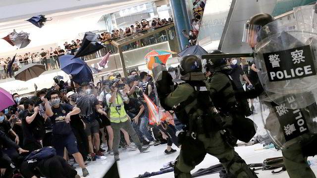 USA fordømmer volden i Hongkong
