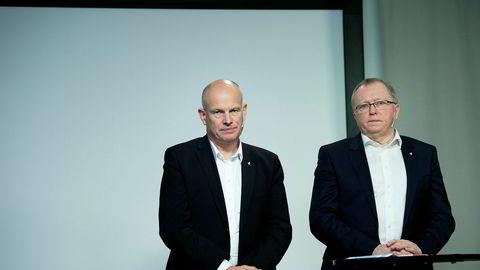 Arne Sigve Nylund (til venstre), konserndirektør i Equinor med ansvar for produksjon og utvikling, og Equinor-sjef Eldar Sætre har fått det travelt med å sette i gang nye prosjekter.