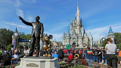 Disney-konsernets lansering av en egen strømmetjeneste har vært en umiddelbar suksess. Her står grunnlegger Walt Disney på sokkel i en av selskapene fornøyelsesparker i Florida.