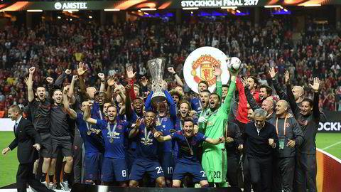 Manchester United vant Uefa Europa League i mai 2017. Prispengene var den viktigste årsaken til at klubben samme sesong hadde fotballverdenens høyeste omsetning.