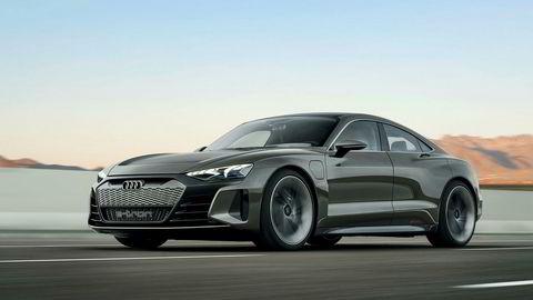 Den lekre Audi E-tron GT leveres ut til norske kunder rett etter påske 2021.
