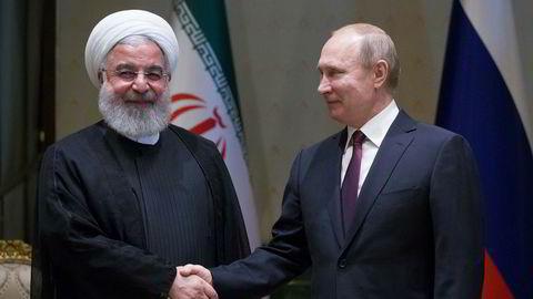 Irans president Hassan Rouhani og Russlands president Vladimir Putin møttes sist uke i Ankara. Nå går de sammen om en frihandelsavtale.