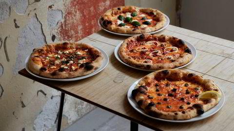 Art by accident. Litt rivningsarbeider etter forgjengeren, og vips: En Rothko-esque tilfeldighet kan akkompagnere pizzaen.