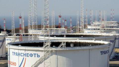 Oljetankere tilhørende det statseide selskapet Transneft, nær byen Nakhodka helt øst i Russland.