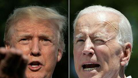 USAs president Donald Trump og demokratenes presidentkandidat Joe Biden.