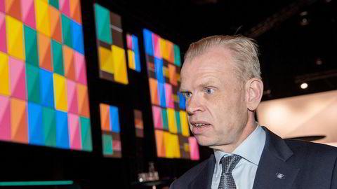 Toppsjef Svein Tore Holsether i Yara under NHOs årskonferanse i januar 2020.