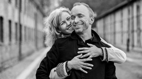Kari Anne Bjerkestrand og Åsleik Engmark møttes på en fest på Nesodden, der de begge bodde. De fikk fire år sammen.