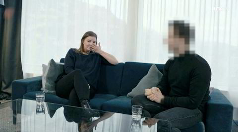 Skjermdump fra NRK-dokumentaren «Innafor: Sex eller overgrep?» Elsa møter igjen han som penetrerte henne selv om hun sa nei.