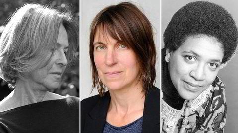 Det tok flere tiår før vi fikk lese poesien til Louise Glück (fra venstre), Alice Oswald og Audre Lorde i norsk gjendiktning, men nå er de her.