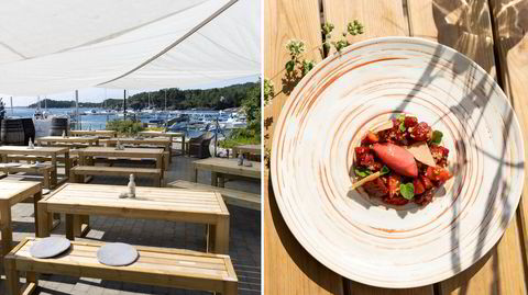 Storkiosken og det gamle fiskemottaket på Borøyas Hagefjordbryggen er blitt sommerrestaurant med isbar, pizzaovn og ukentlige gourmetkvelder.