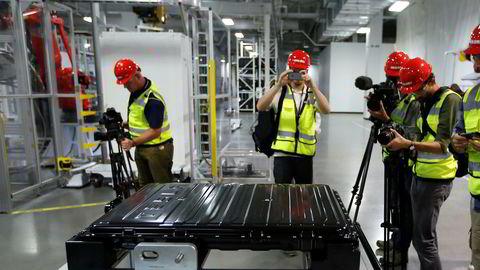 Teslas batterier produseres i dag i selskapets såkalte gigafabrikk i Nevada. Nå skal produksjonen utvides til Kina.