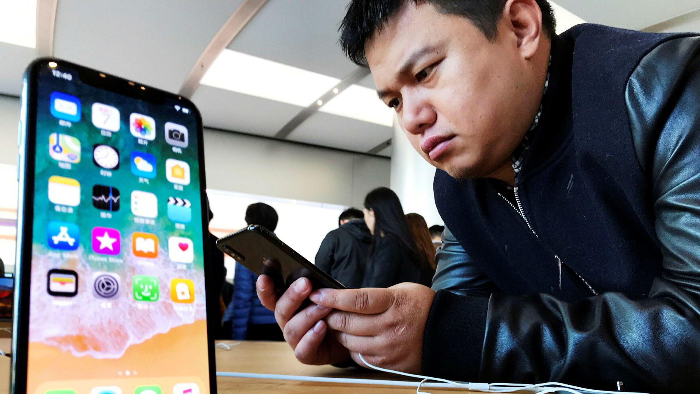 Apples største Iphone-modeller utgjorde nesten en tredjedel av telefonsalget før jul.