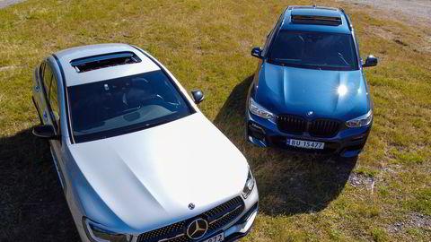 Hverken BMW X3 30e plug in hybrid eller Mercedes GLC 300e plug in hybrid vil få økte engangsavgifter.