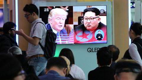 USAs president Donald Trump skal etter planen møte Nord-Koreas leder Kim Jong-un 12. juni.