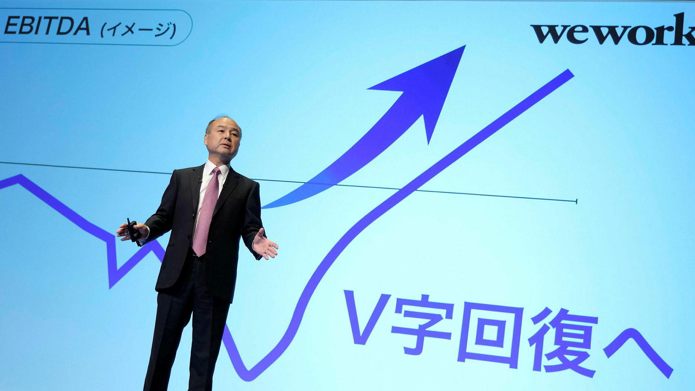 Toppsjef Masayoshi Son i Japans SoftBank Group fortalte forleden at banken hadde tapt 6,5 milliarder dollar i andre kvartal – det verste i historien – etter å ha invesert i start-ups som Uber og WeWork.