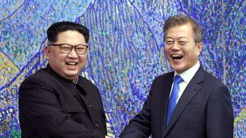 Den nordkoreanske lederen Kim Jong Un møtte Sør-Koreas president, Moon Jae-in tidligere i år.