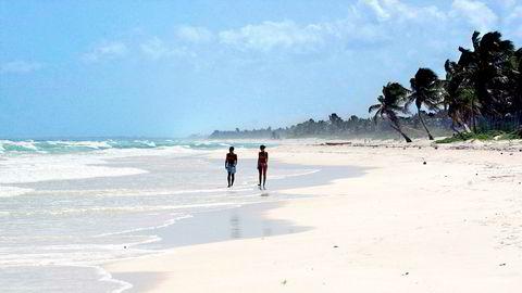 Ferieidyll, her fra Tulum på Yucatán-halvøya i Mexico.