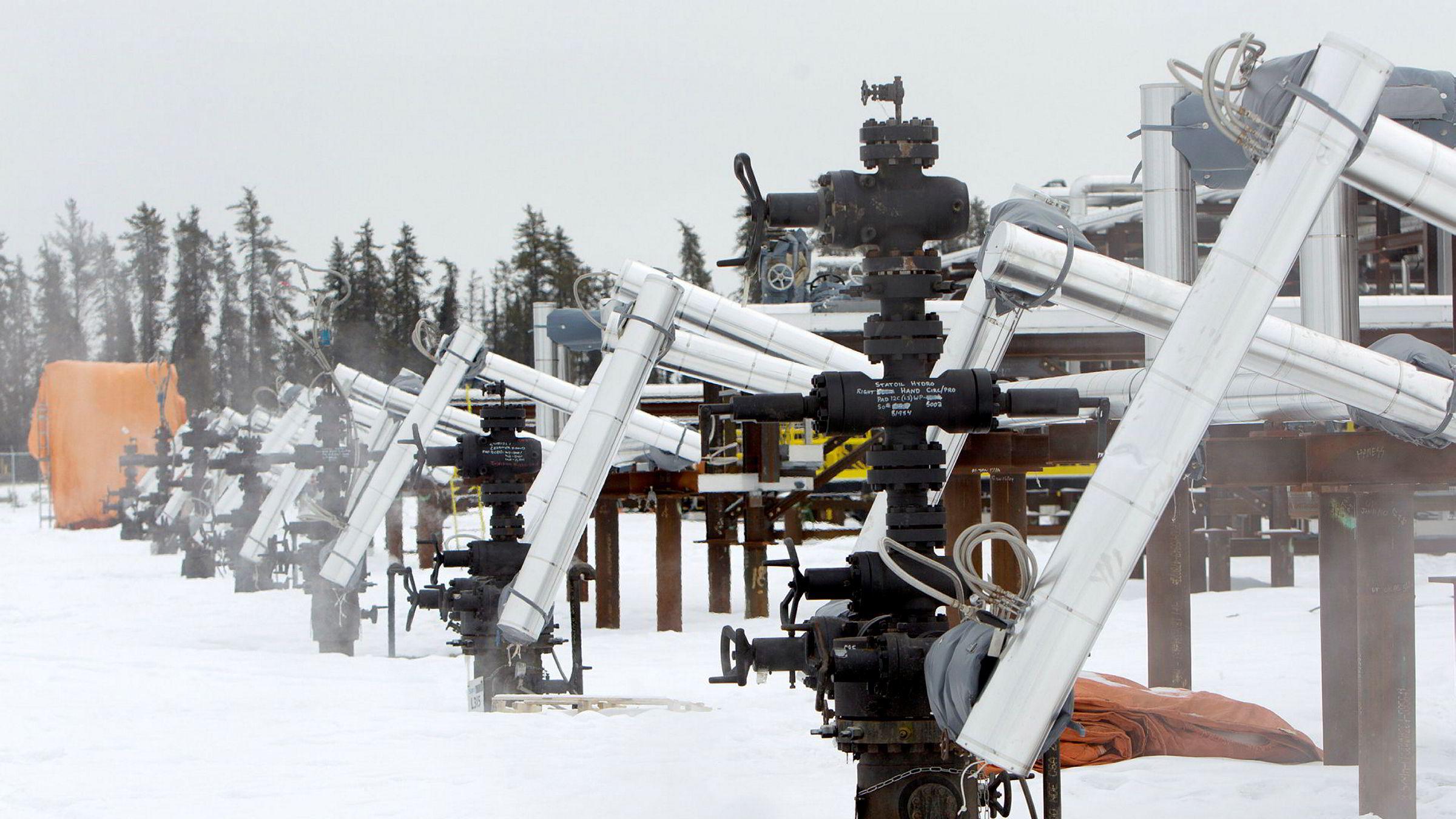 Statoils tidligere oljesand fasiliteter i Leismer i Canada.
