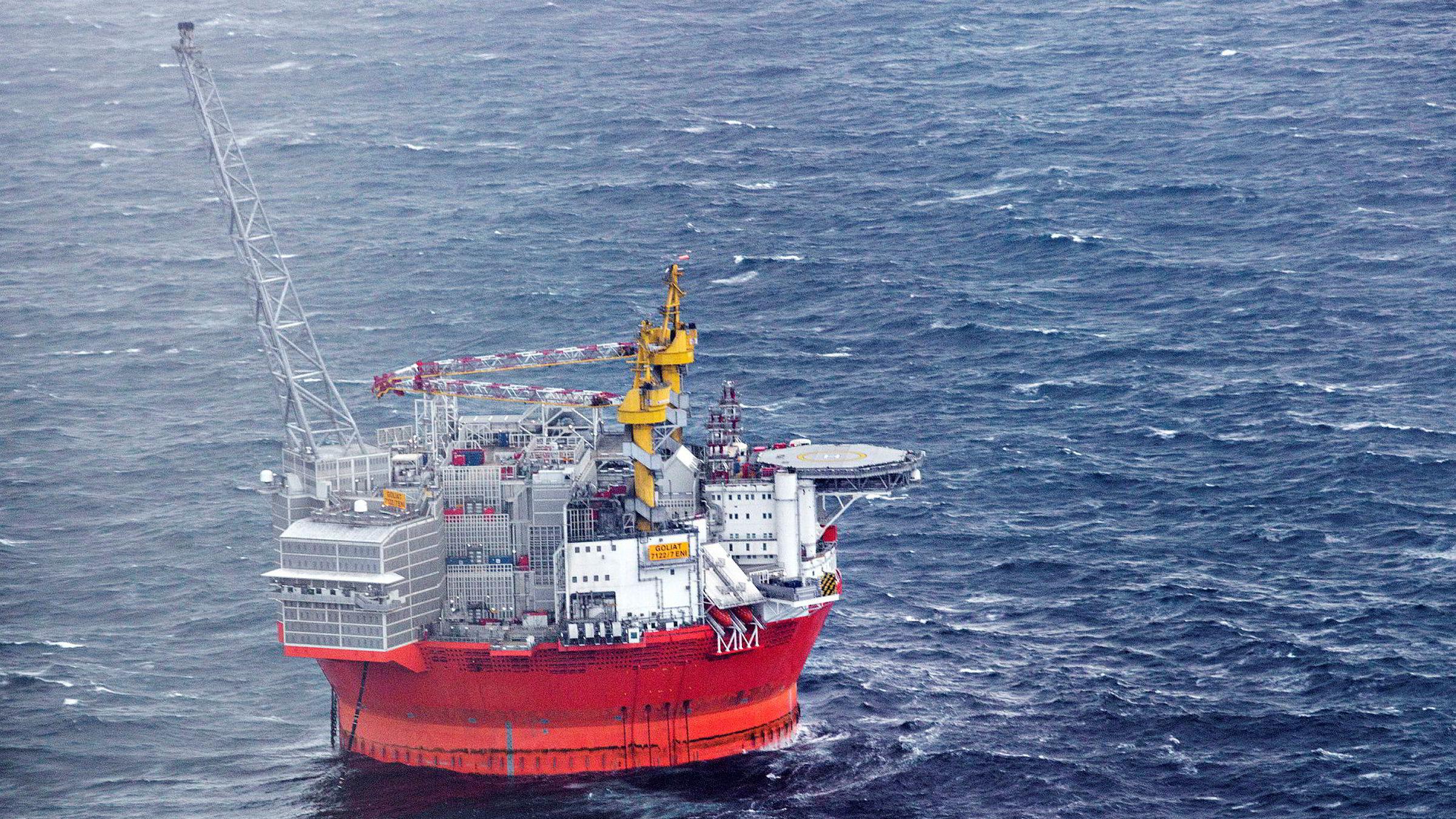 «Goliat»-plattformen i Barentshavet har vært stengt to måneder i høst.