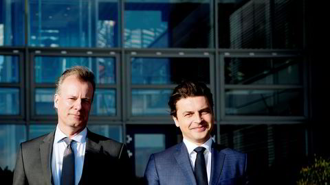 Johan H. Andresen (til venstre) eier investeringsselskapet Ferd. Til høyre er konsernsjef Morten Borge.