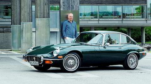Kjetil SW. Bie. Jaguar E type Serie 3 1972 modell. - Foto: Sune Eriksen