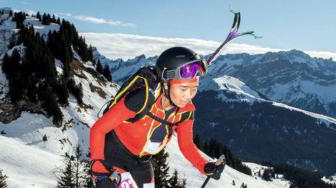 Skina. Den kinesiske jenta Quzhen Suolang (16) imponerer alle med fjerdeplass. Det hardtsatsende laget har nå seks år på seg til å trene før randonee trolig havner på det ordinære OL-programmet.