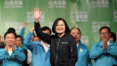 Taiwans president Tsai Ing-wen feiret valgseier lørdag, men kalddusjen fra Kina søndag var utvetydig: Taiwan er å betrakte som en del av Kina, for hele verden, alltid.