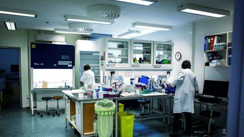 Fra ett av labratoriene ved høysmitteavdelingen på Oslo Universitetssykehus.